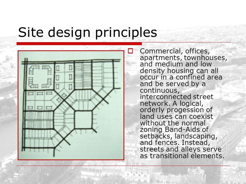 Site design principles