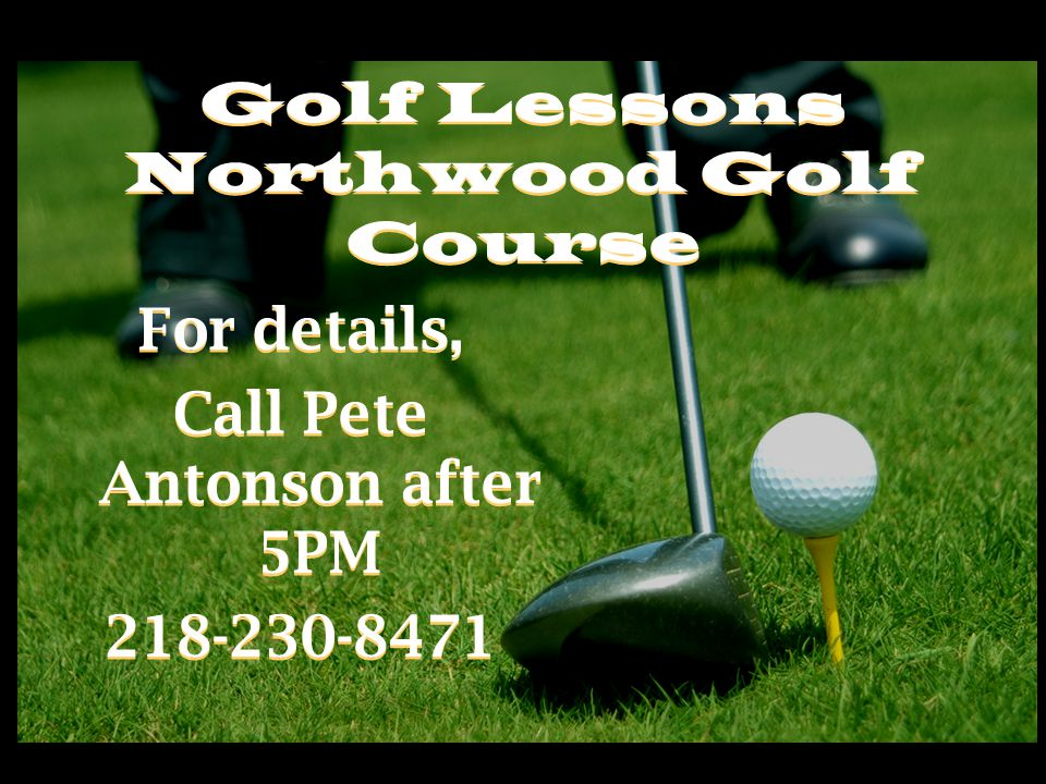 Golf Lessons Northwood Golf Course