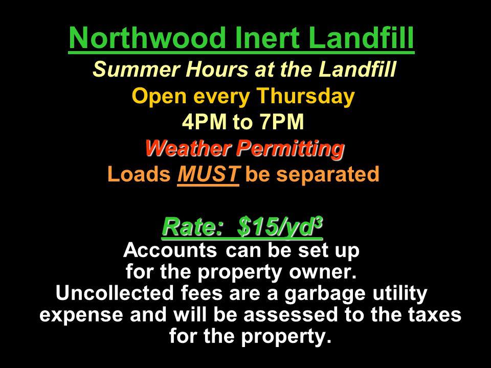 Northwood Inert Landfill