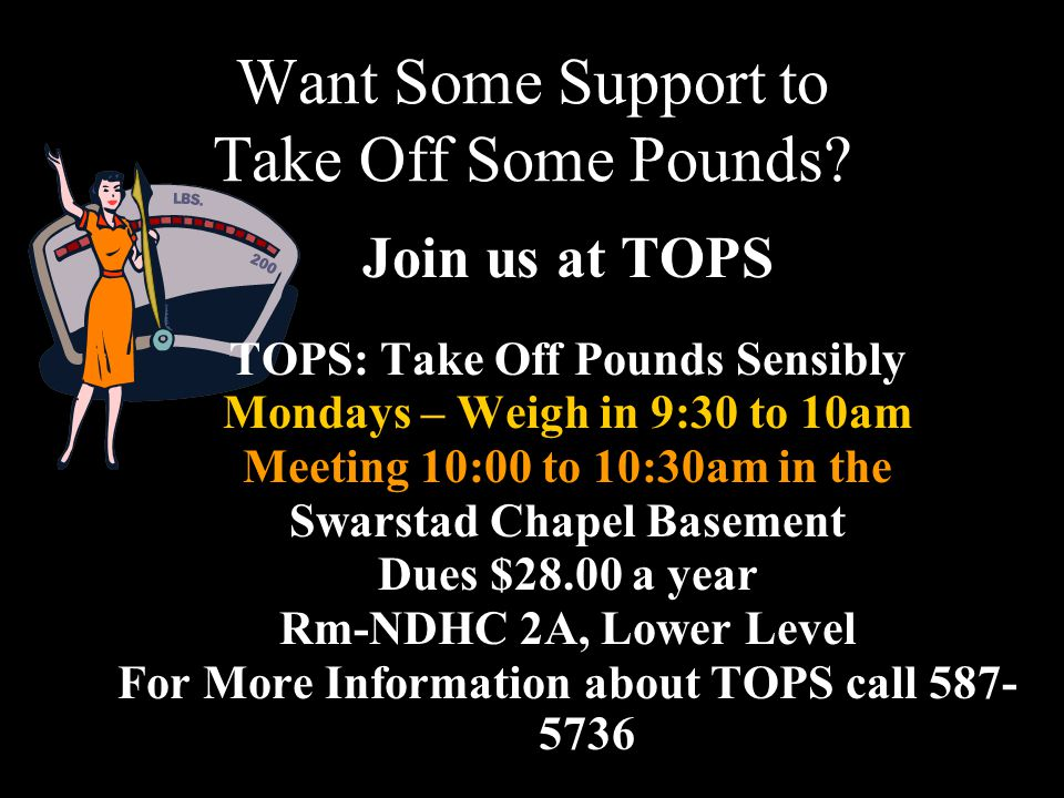 Want Some Support to Take Off Some Pounds