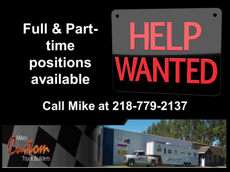 Full & Part-time positions available