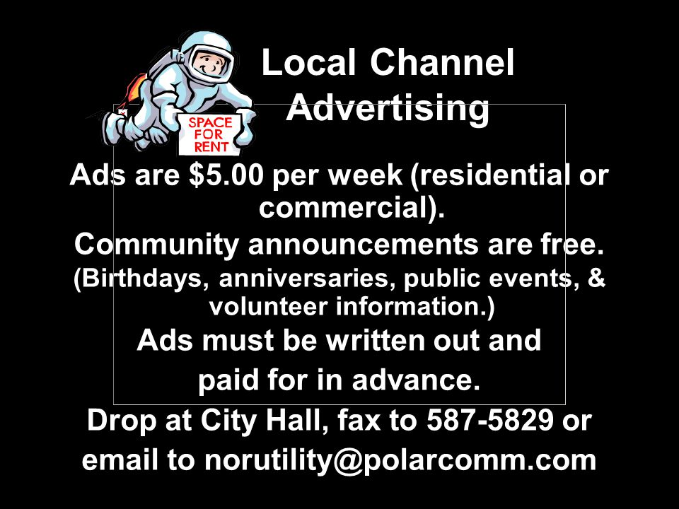 Local Channel Advertising