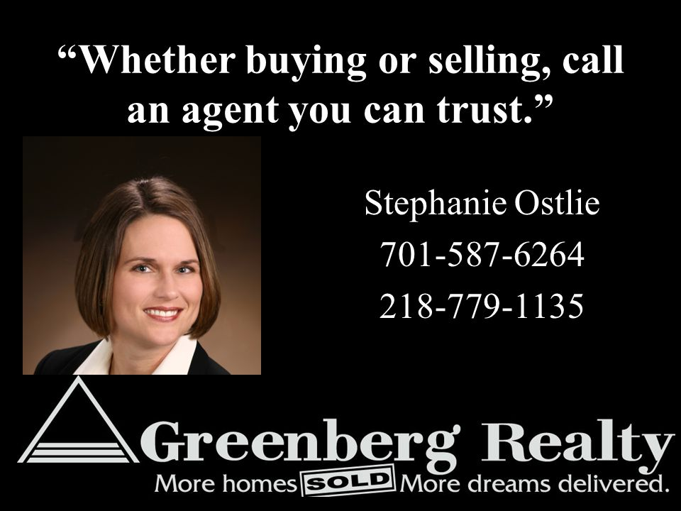 Whether buying or selling, call an agent you can trust.