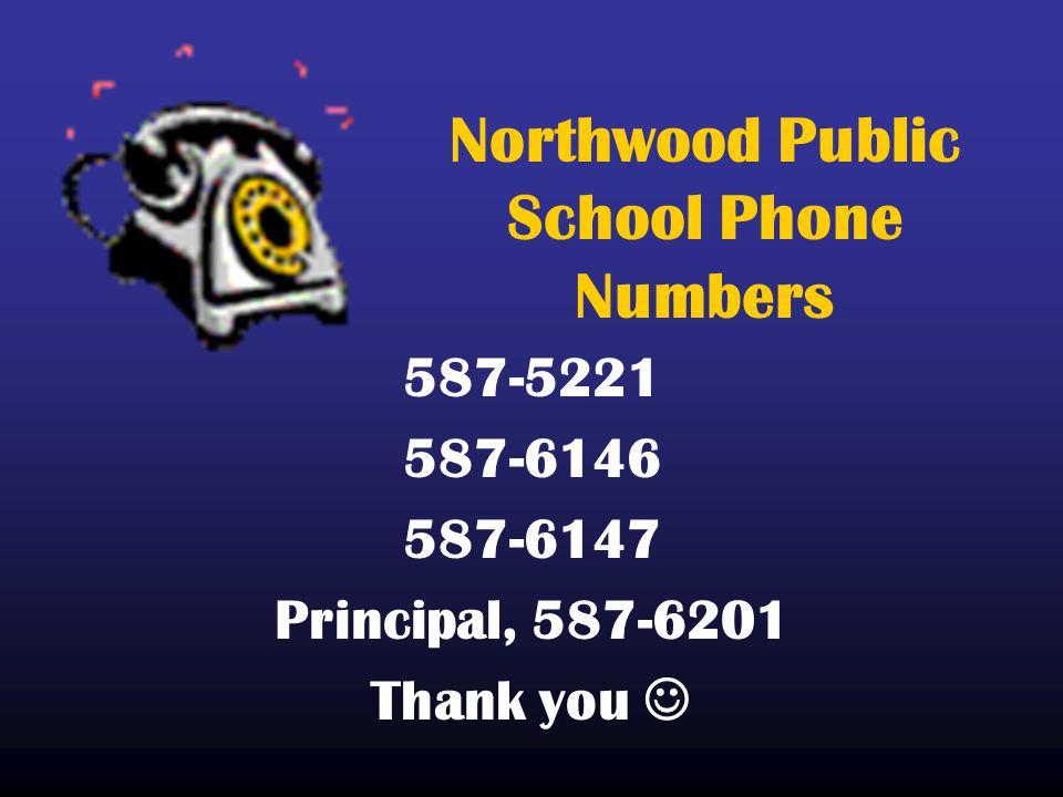 Northwood Public School Phone Numbers