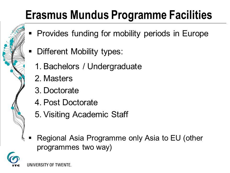 Erasmus Mundus Programme Facilities