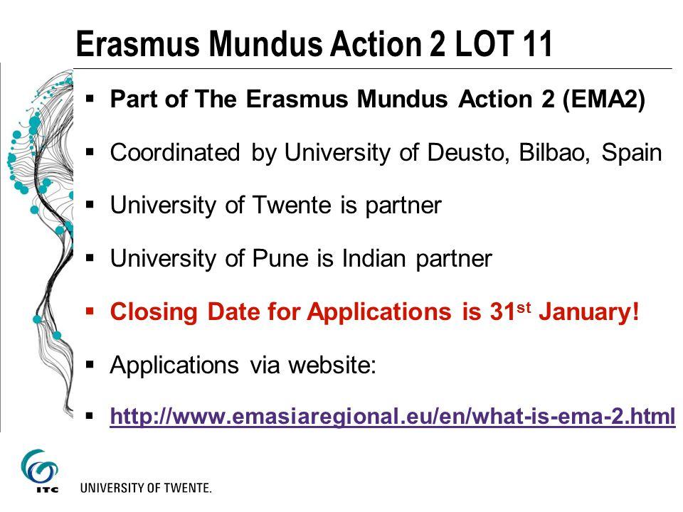 Erasmus Mundus Action 2 LOT 11