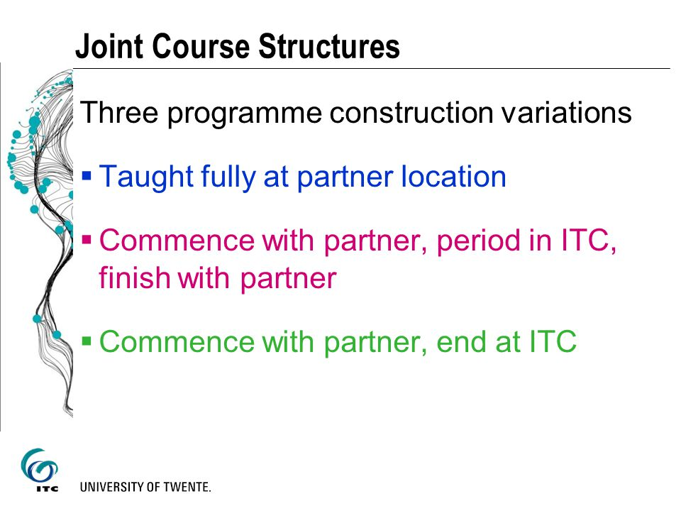 Joint Course Structures