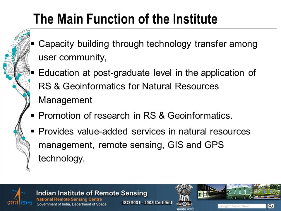 The Main Function of the Institute
