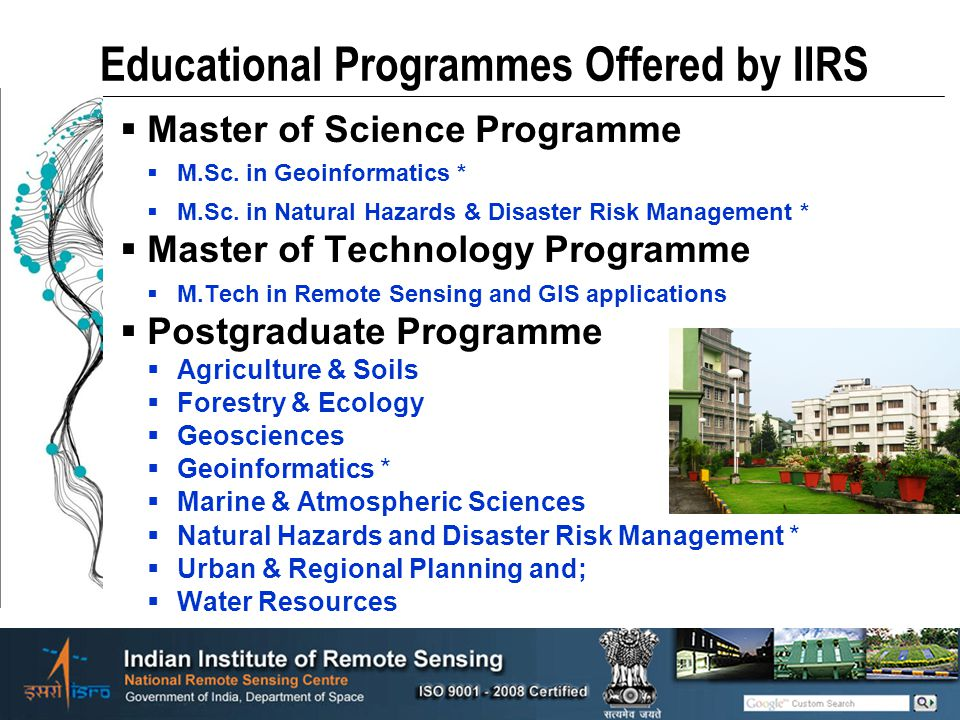 Educational Programmes Offered by IIRS