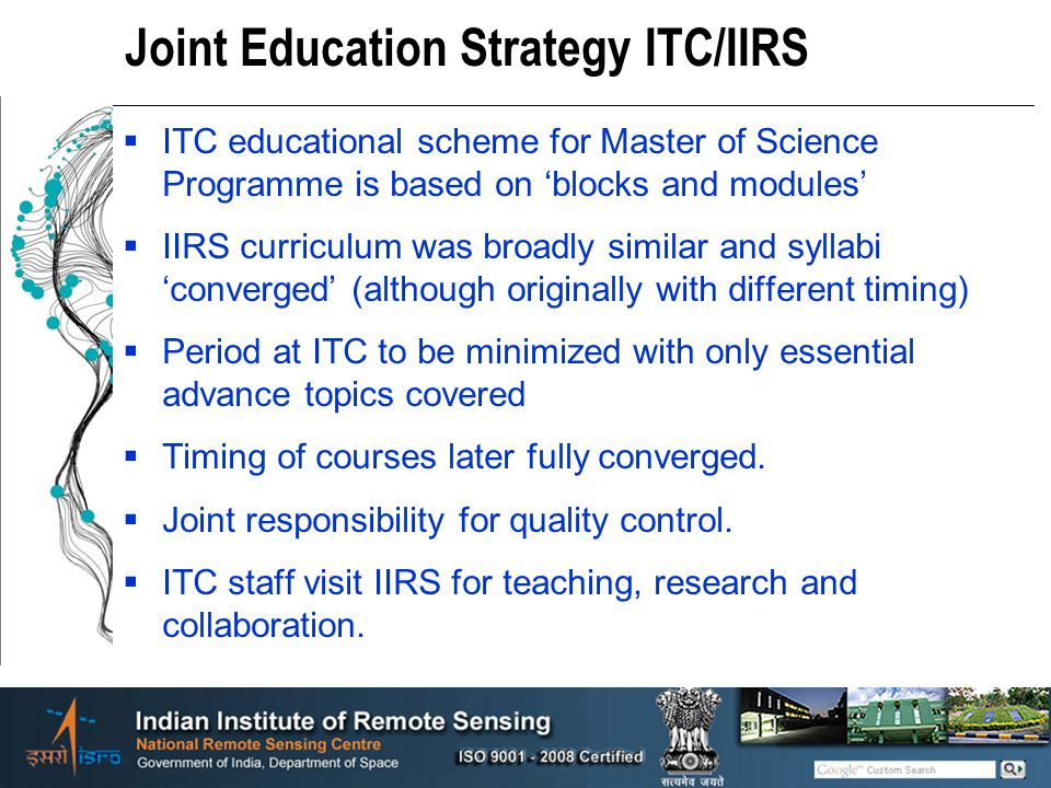 Joint Education Strategy ITC/IIRS