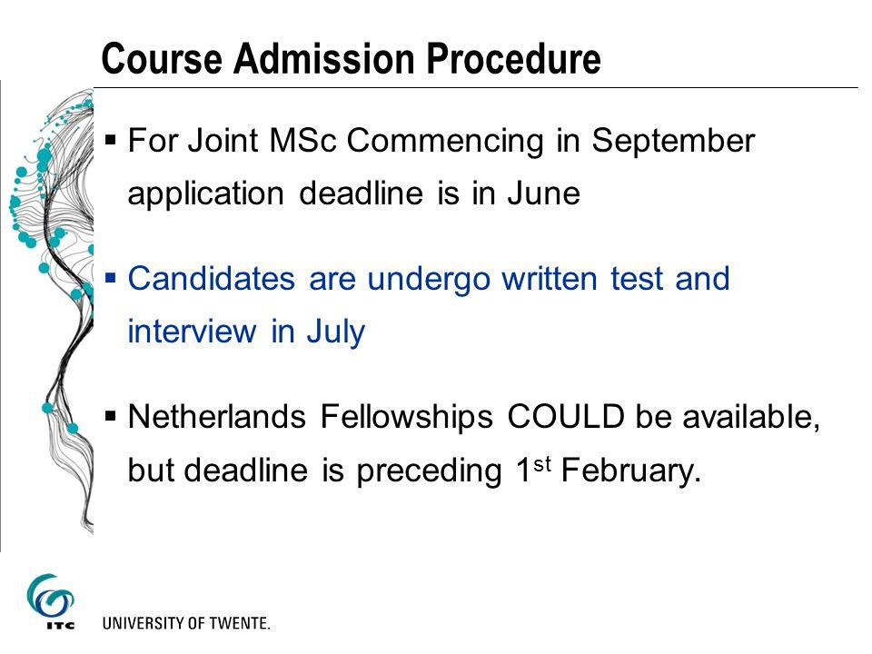 Course Admission Procedure