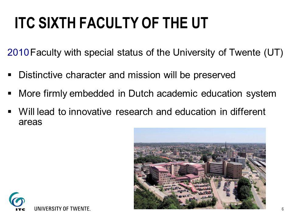 ITC SIXTH FACULTY OF THE UT
