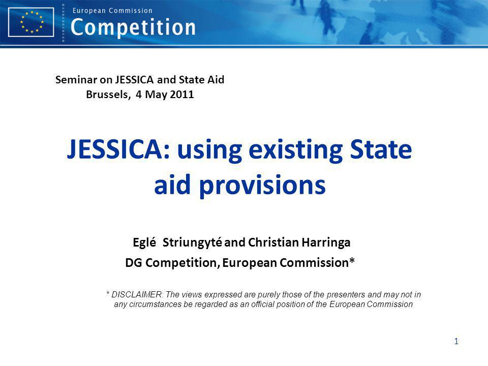Seminar on JESSICA and State Aid Brussels, 4 May 2011