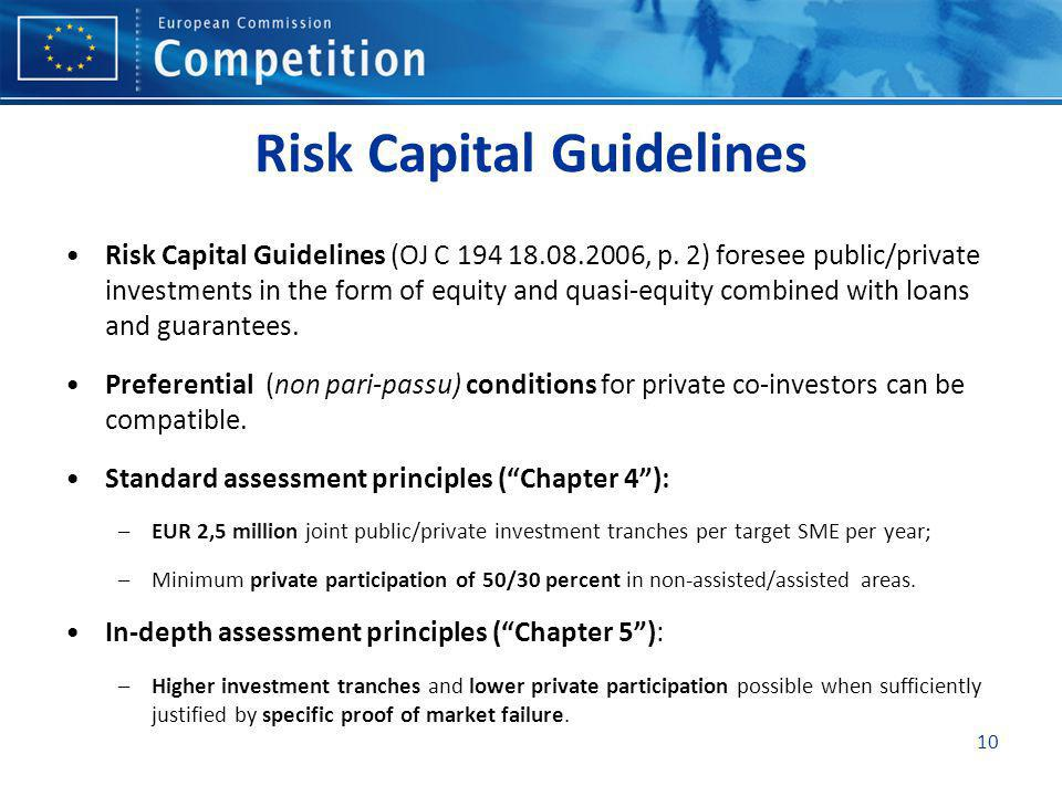 Risk Capital Guidelines