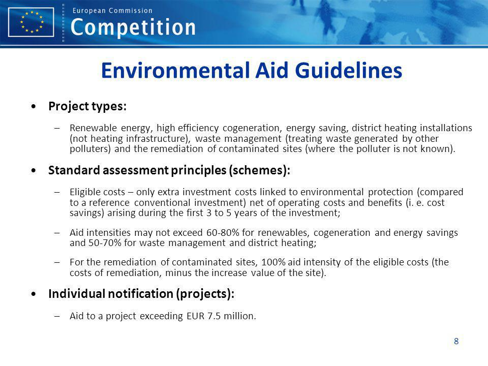 Environmental Aid Guidelines