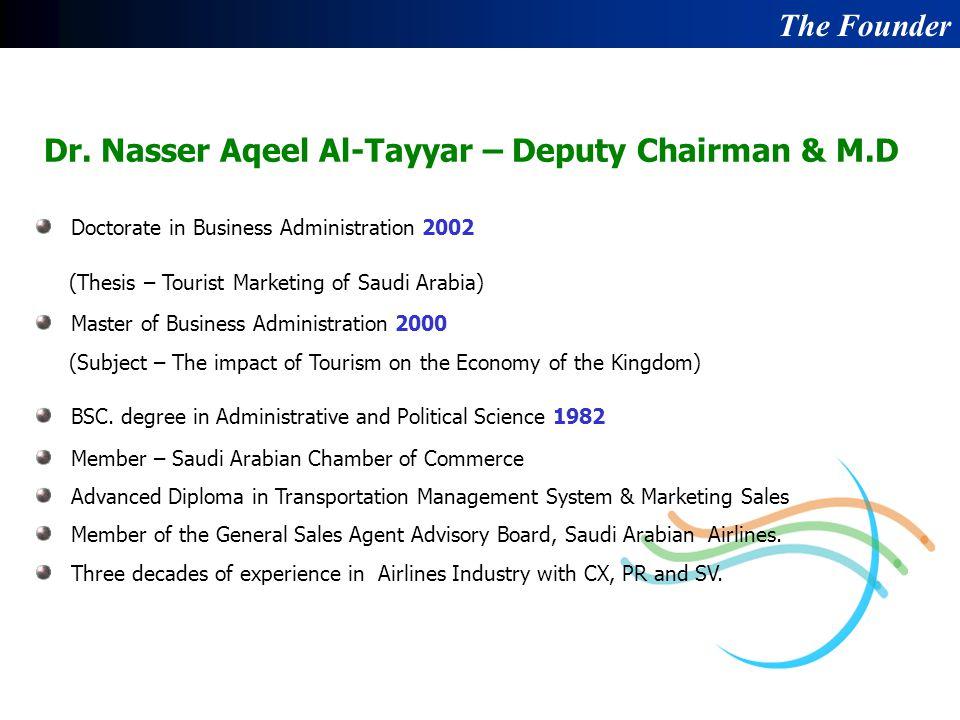 Dr. Nasser Aqeel Al-Tayyar – Deputy Chairman & M.D