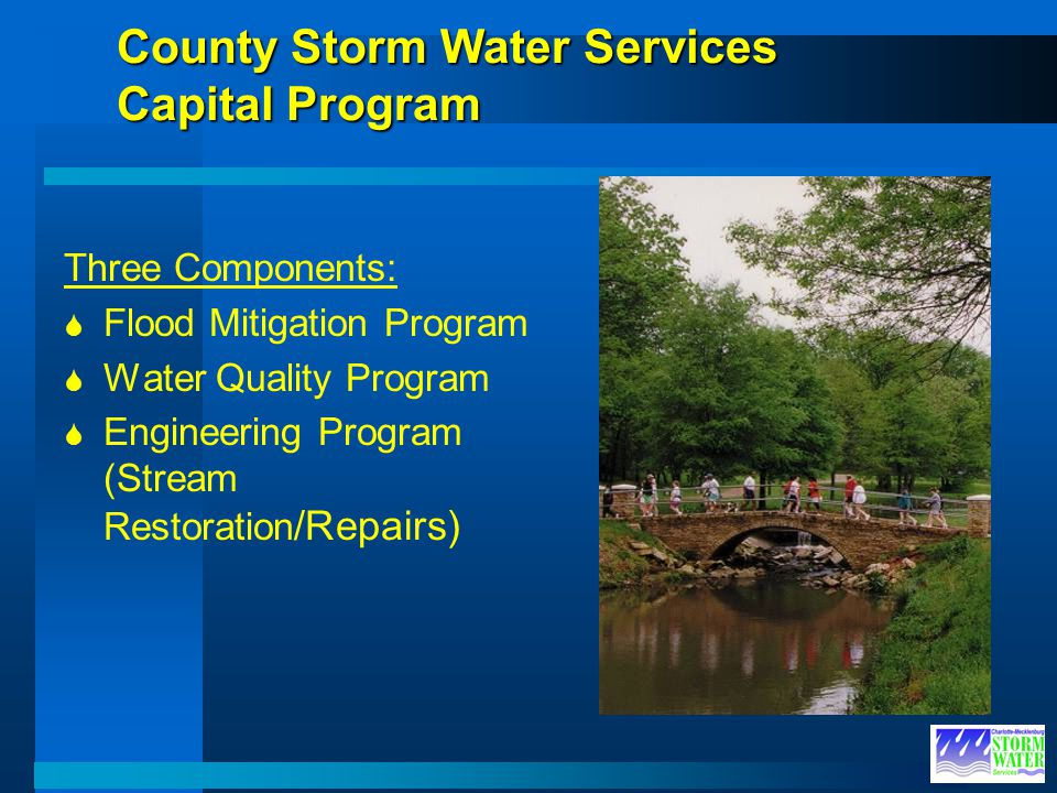 County Storm Water Services Capital Program