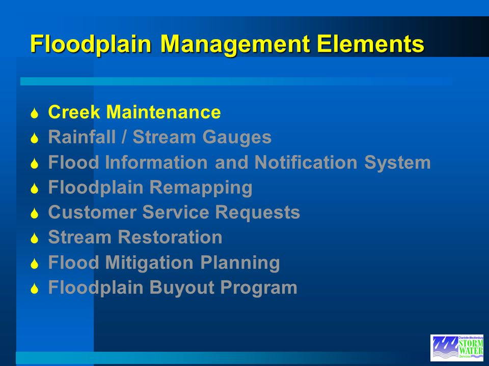 Floodplain Management Elements