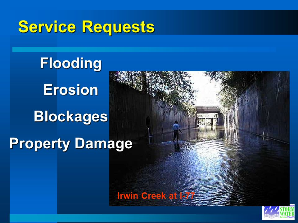 Service Requests Flooding Erosion Blockages Property Damage
