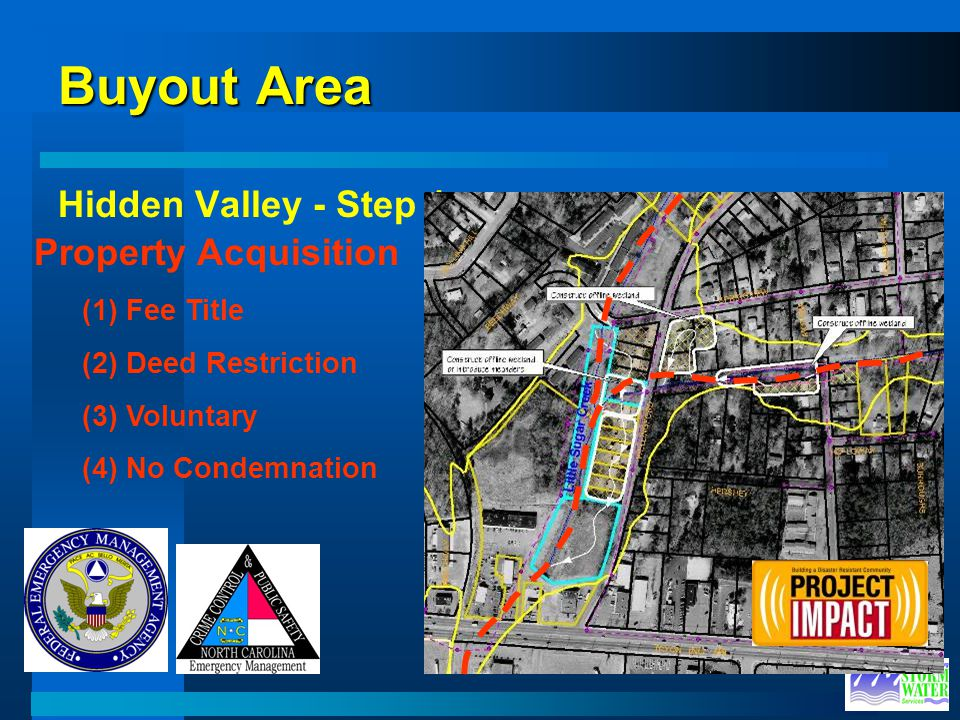 Buyout Area Hidden Valley - Step 1 Property Acquisition (1) Fee Title