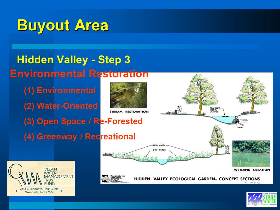 Buyout Area Hidden Valley - Step 3 Environmental Restoration