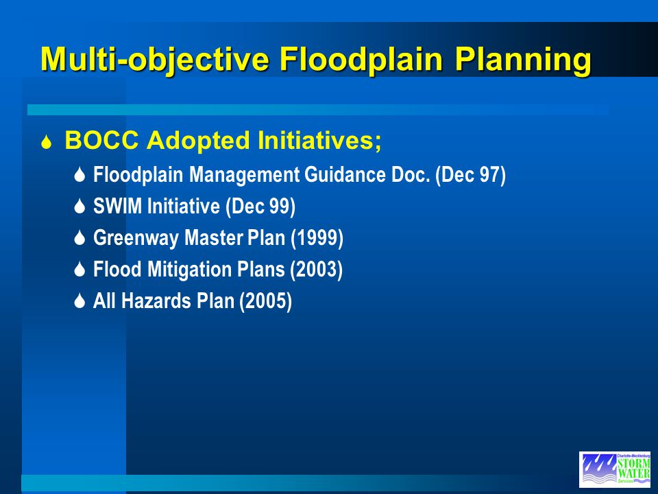 Multi-objective Floodplain Planning