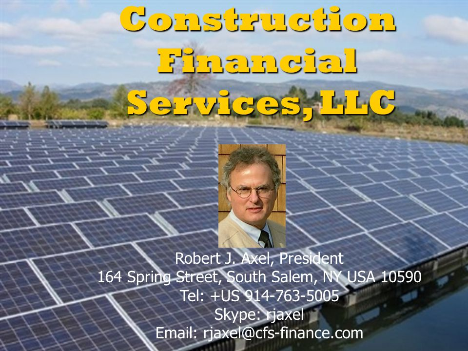 Construction Financial Services, LLC
