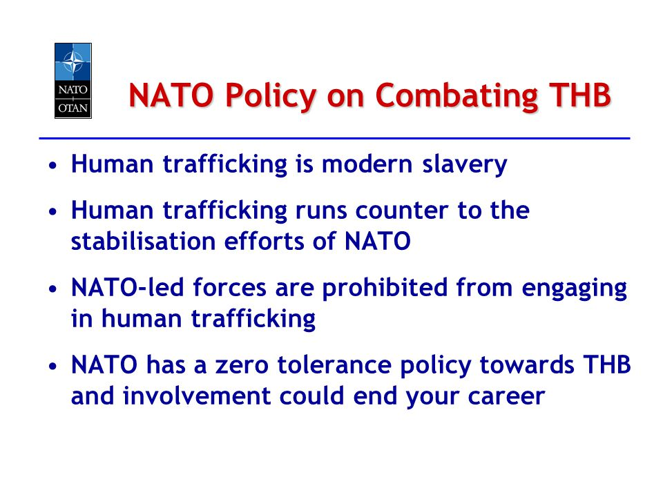 NATO Policy on Combating THB