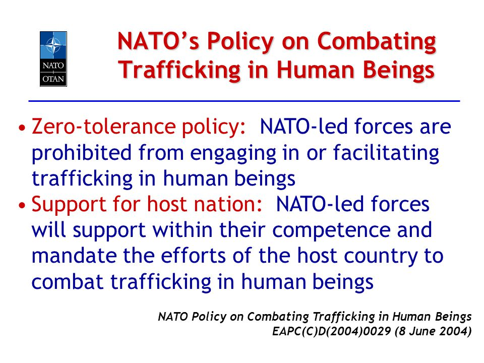 NATO's Policy on Combating Trafficking in Human Beings