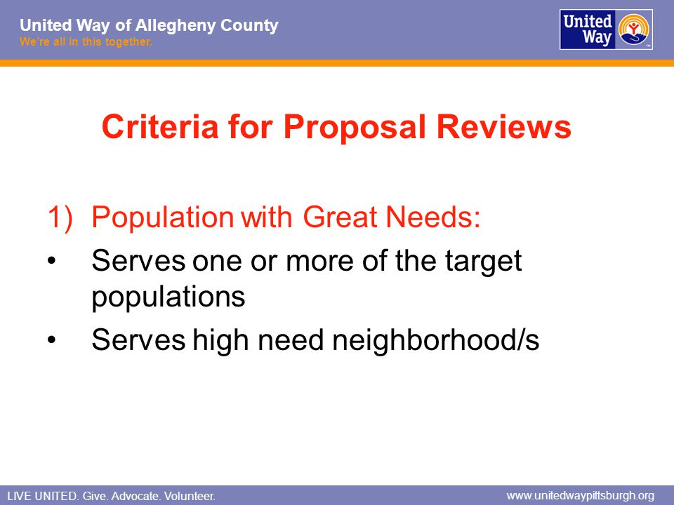 Criteria for Proposal Reviews