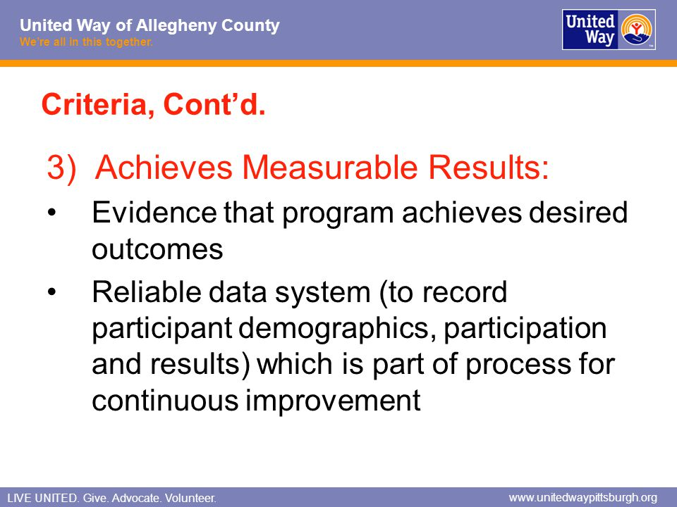 3) Achieves Measurable Results: