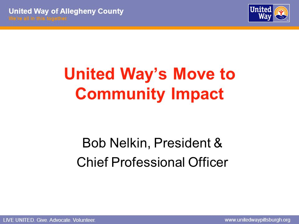 United Way's Move to Community Impact