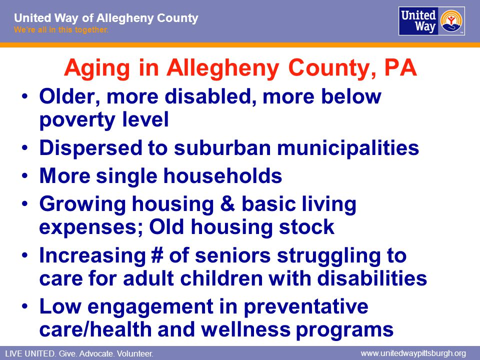 Aging in Allegheny County, PA