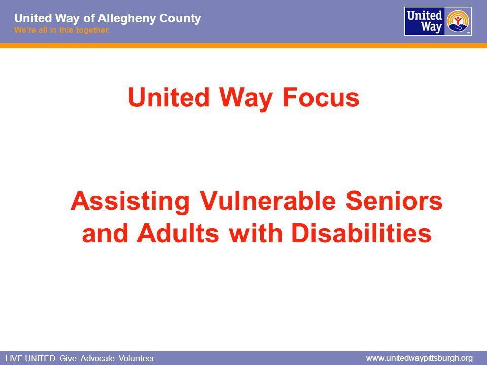 Assisting Vulnerable Seniors and Adults with Disabilities
