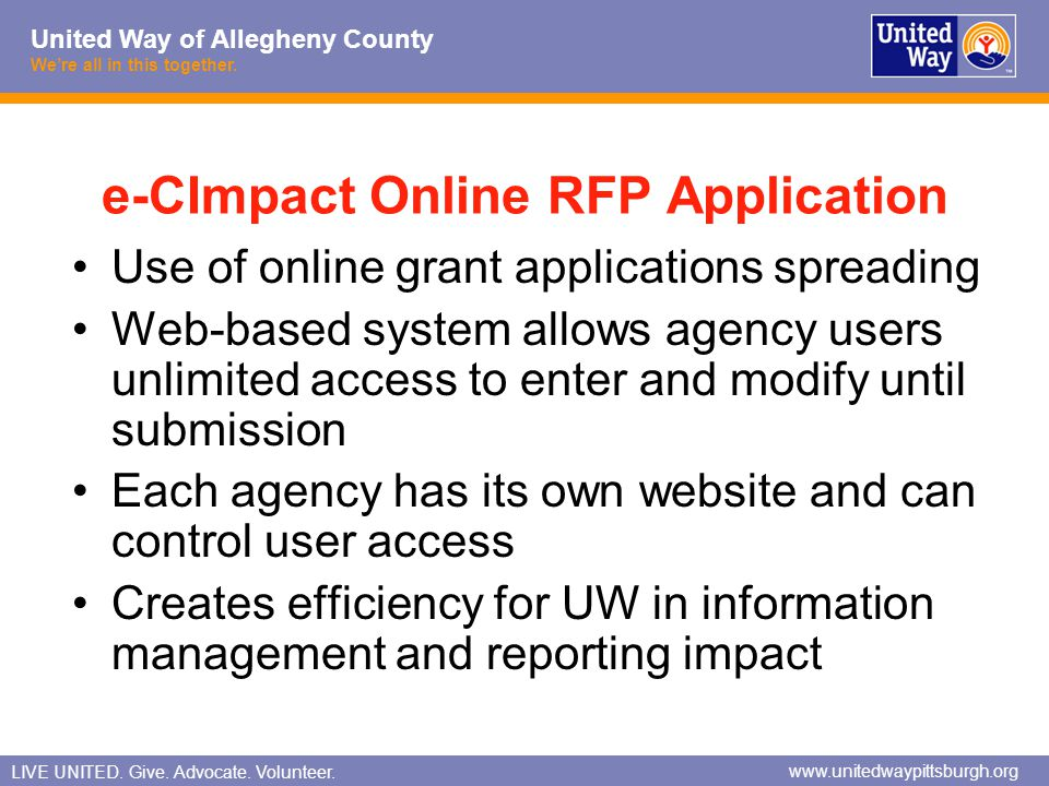 e-CImpact Online RFP Application