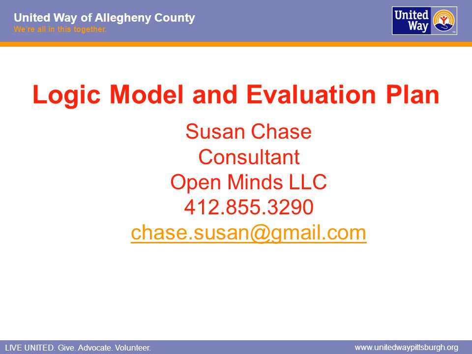 Logic Model and Evaluation Plan