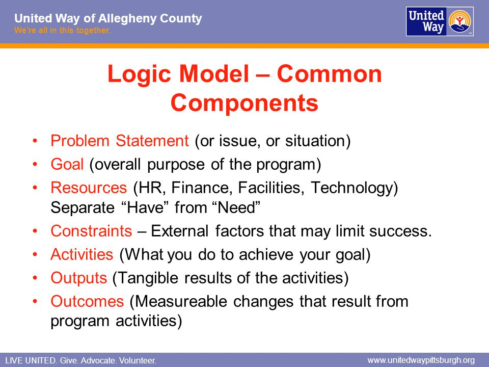 Logic Model – Common Components