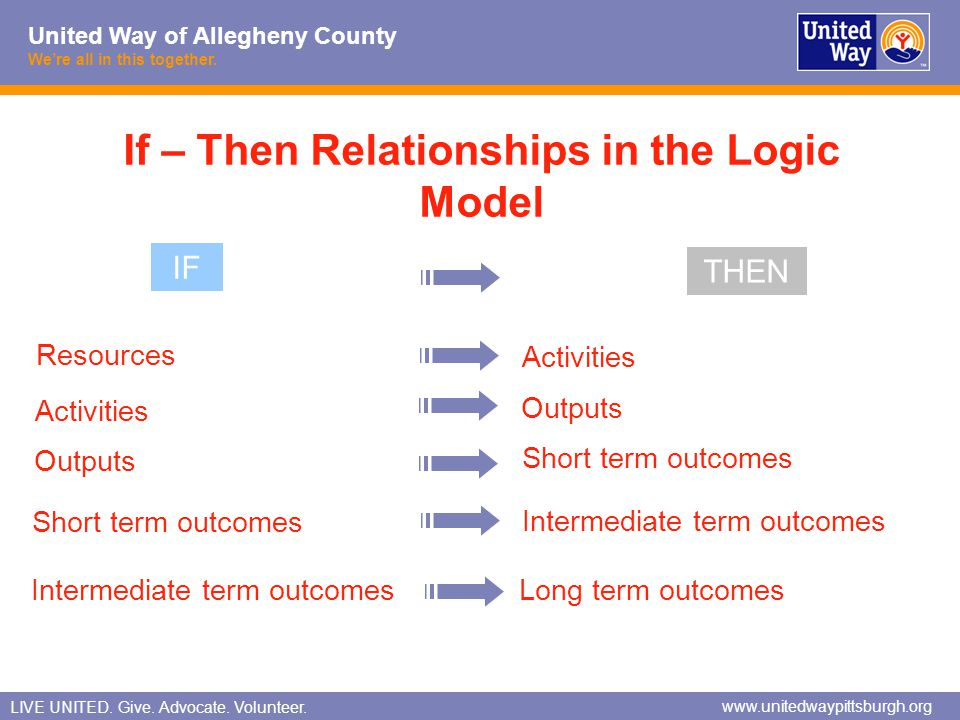 If – Then Relationships in the Logic Model