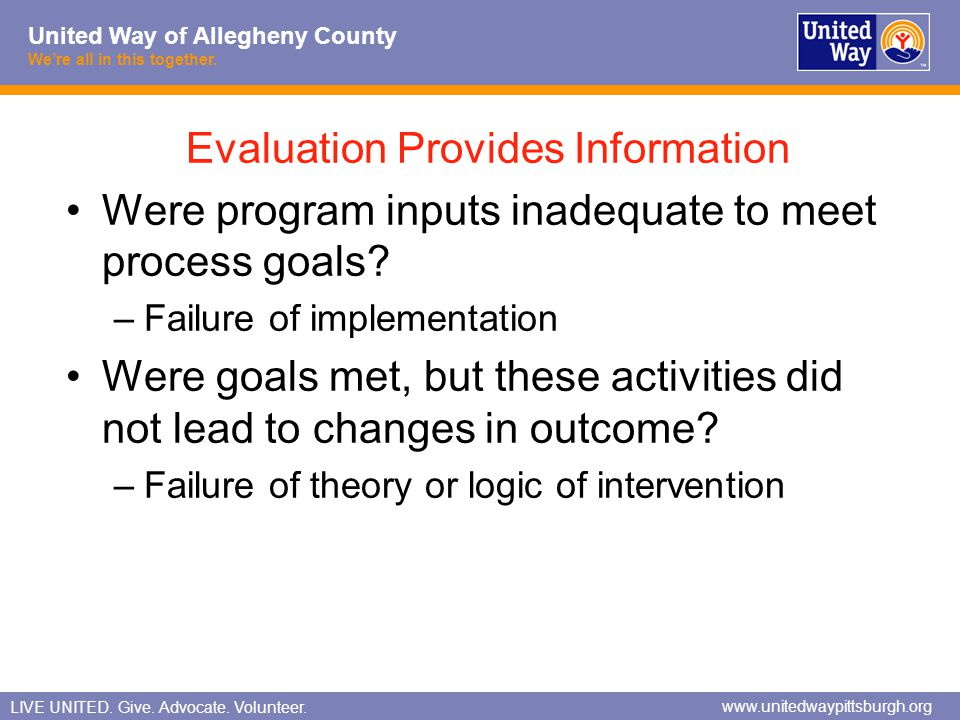 Evaluation Provides Information
