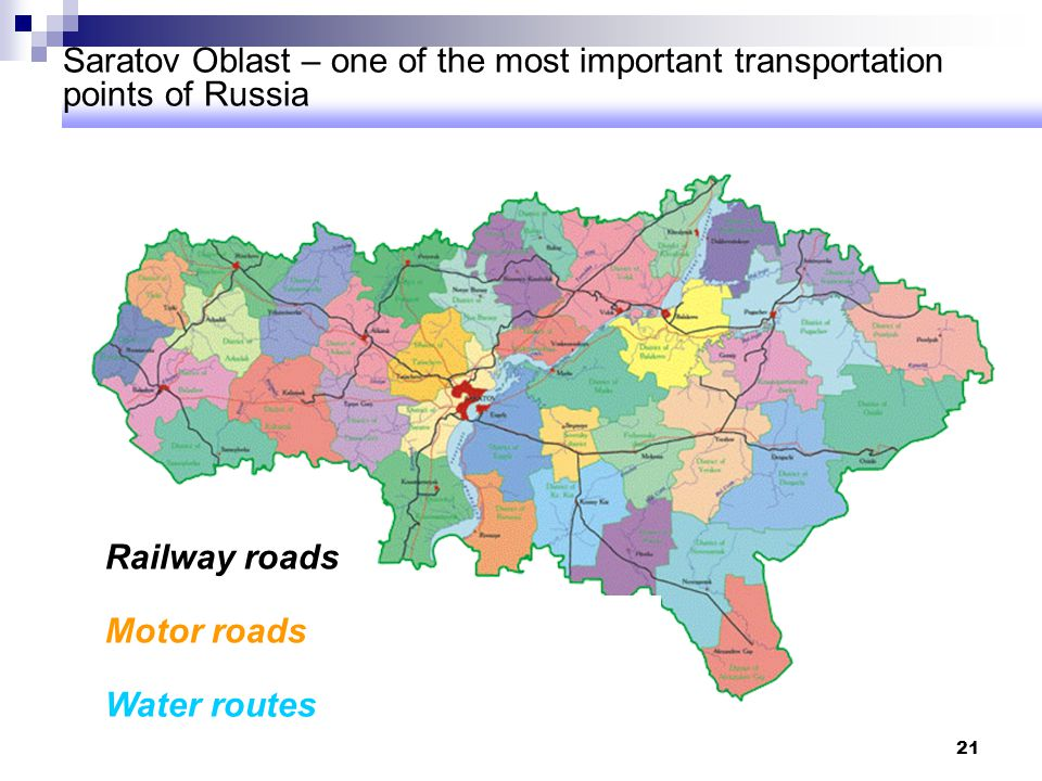 Saratov Oblast – one of the most important transportation points of Russia