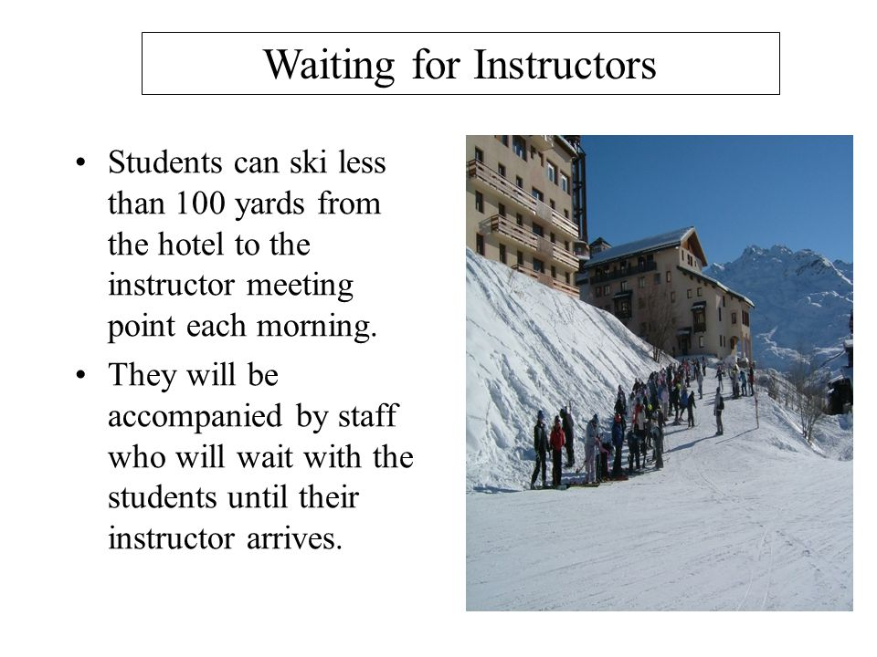 Waiting for Instructors