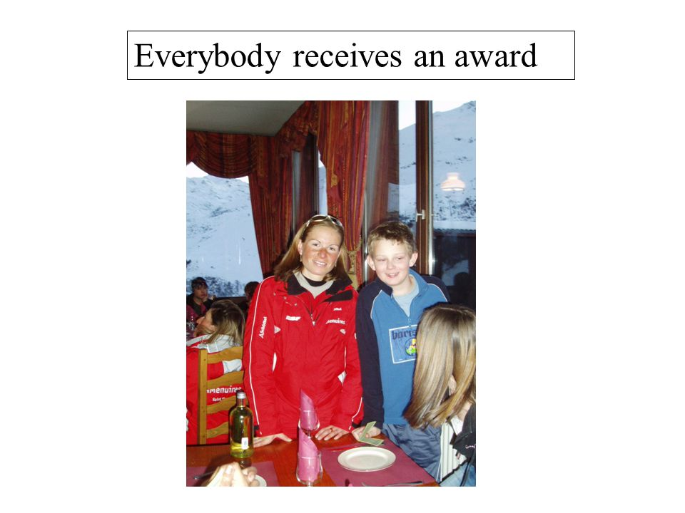 Everybody receives an award