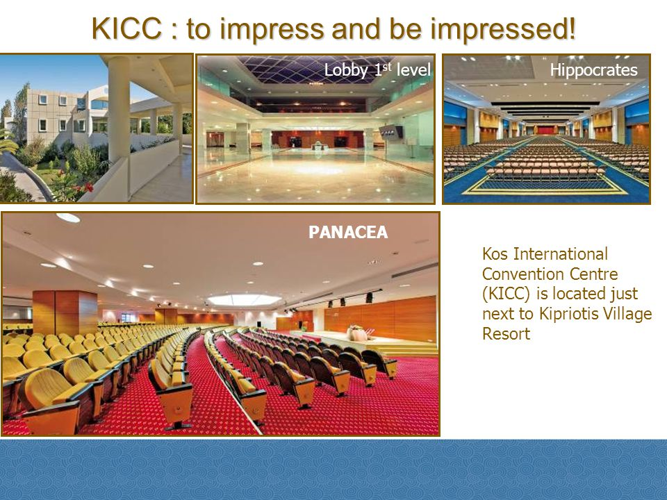 KICC : to impress and be impressed!