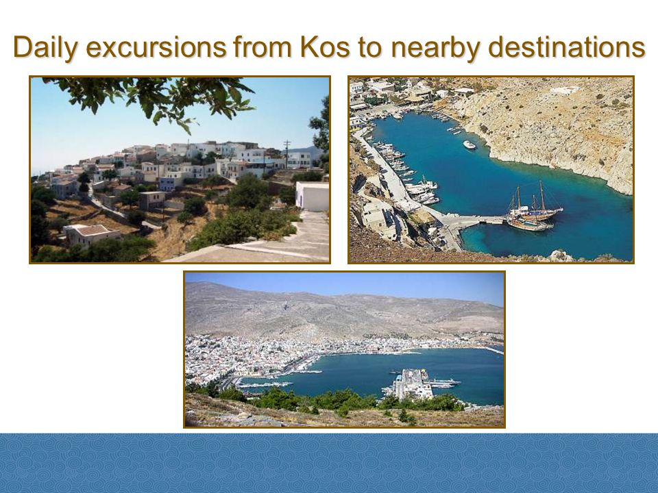 Daily excursions from Kos to nearby destinations