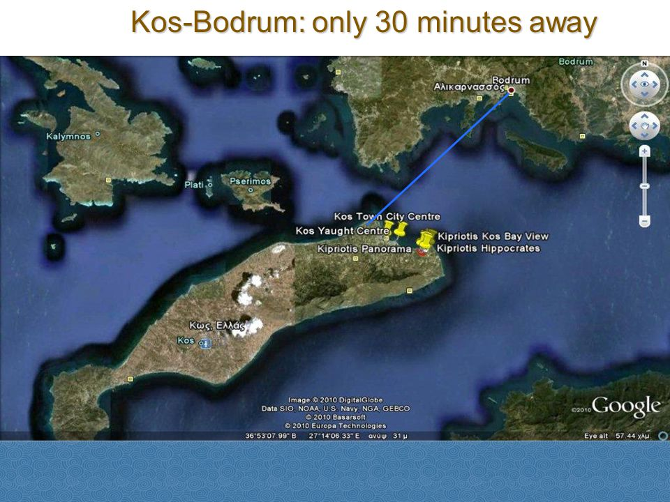 Kos-Bodrum: only 30 minutes away