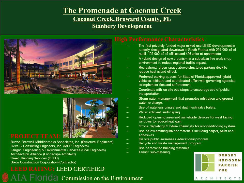 The Promenade at Coconut Creek Coconut Creek, Broward County, FL Stanbery Development