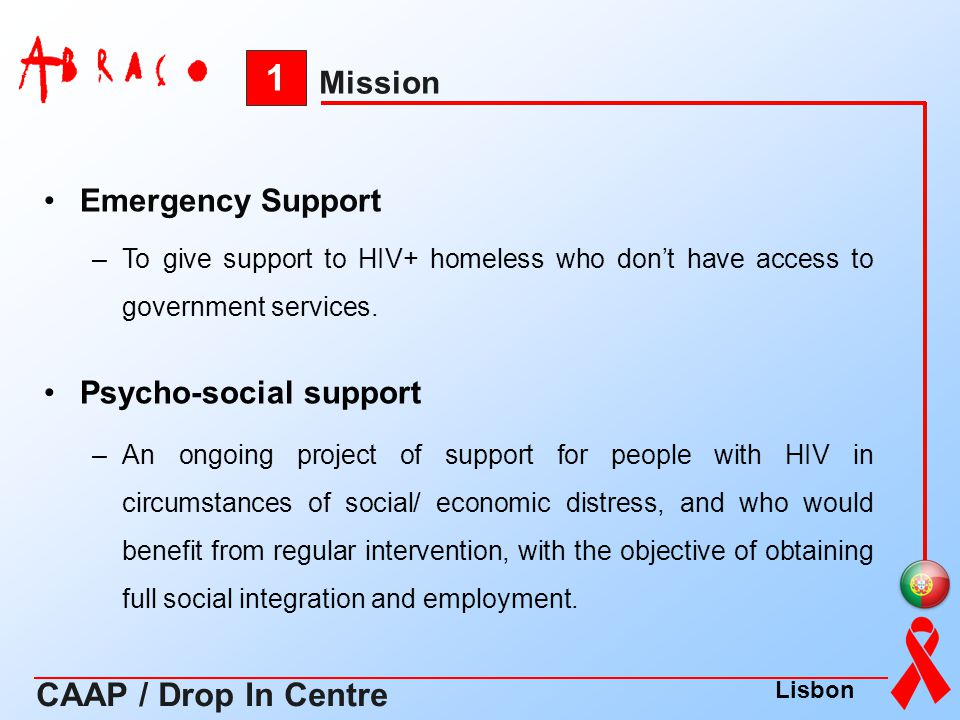 1 CAAP / Drop In Centre Mission Emergency Support