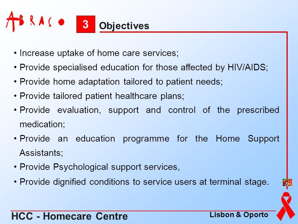 3 HCC - Homecare Centre Objectives