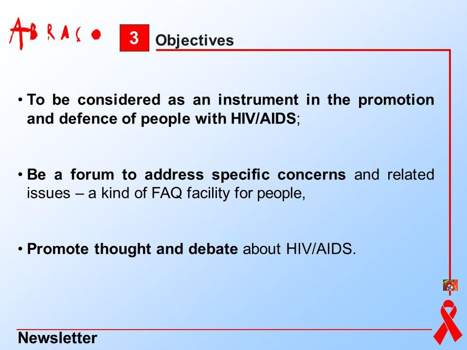 3 Newsletter Objectives
