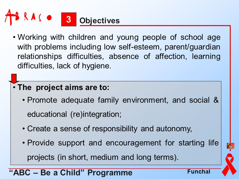 3 ABC – Be a Child Programme Objectives